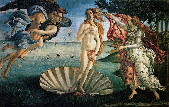 Nacimiento de Venus de Botticelli en Uffizi