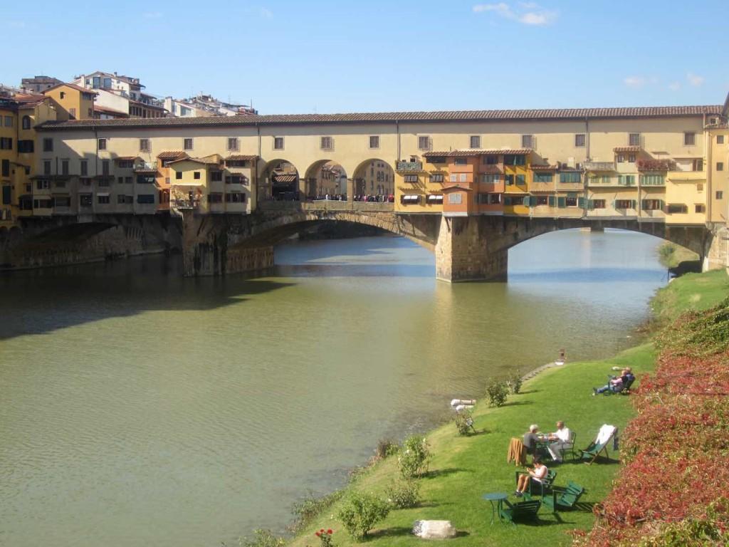 A orillas del Ponte Vecchio. ©M. Calvo.