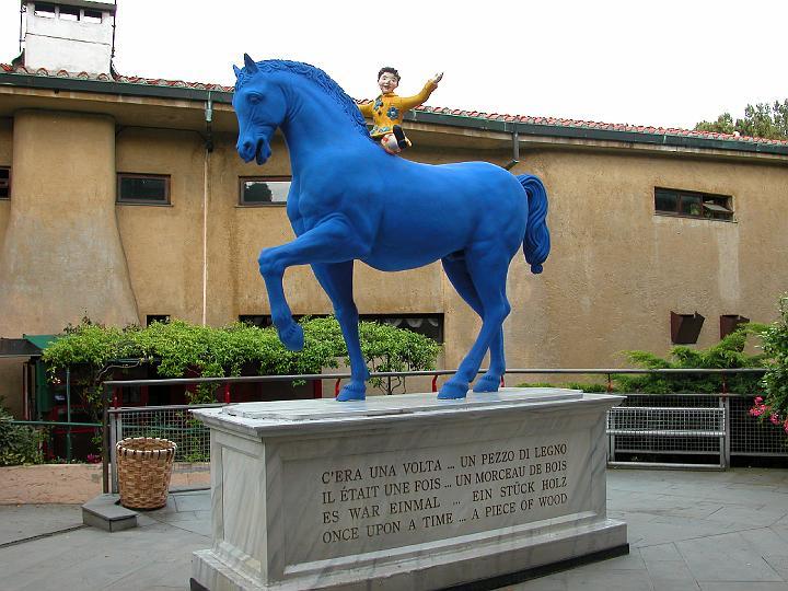 El caballo Azul del cuento de Pinocho