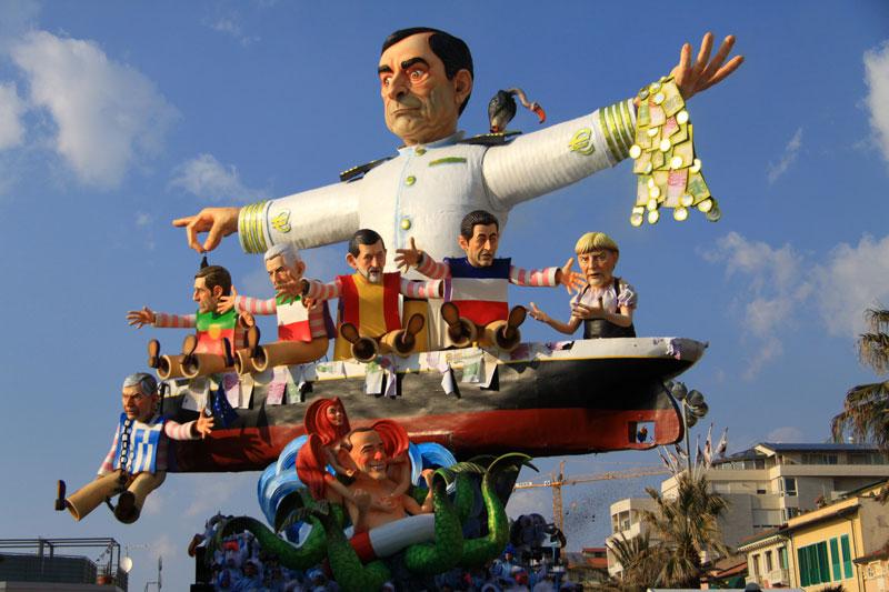 Carrozas del carnaval de Viareggio
