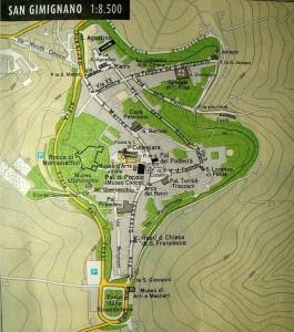 Mapa de San Gimignano. ©María Calvo.