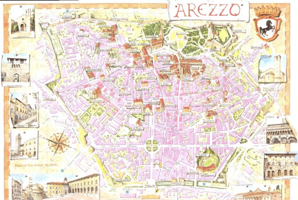 Mapa turístico de Arezzo