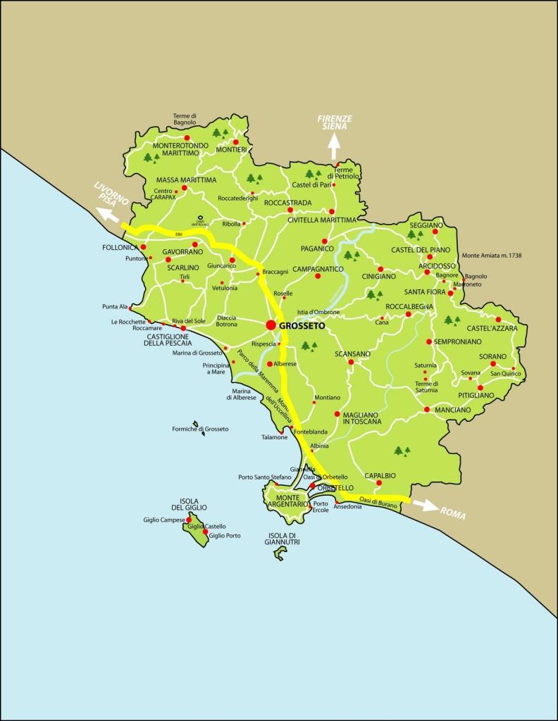 Mapa de la Maremma