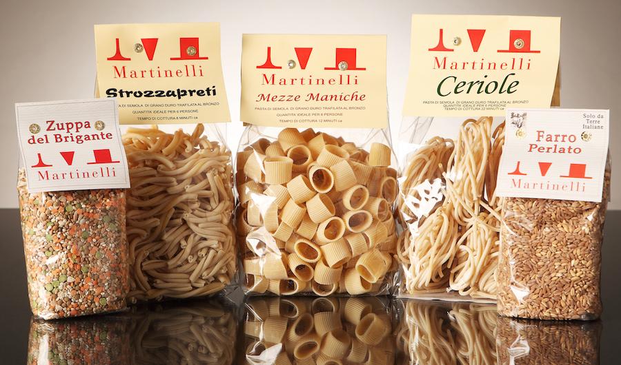 Pasta Martinelli, una fabrica que produce pasta ecológica en Lari.