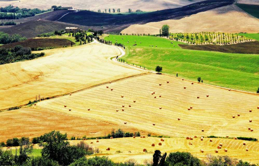 El arrière-pays toscano. Foto de Claude Lina.