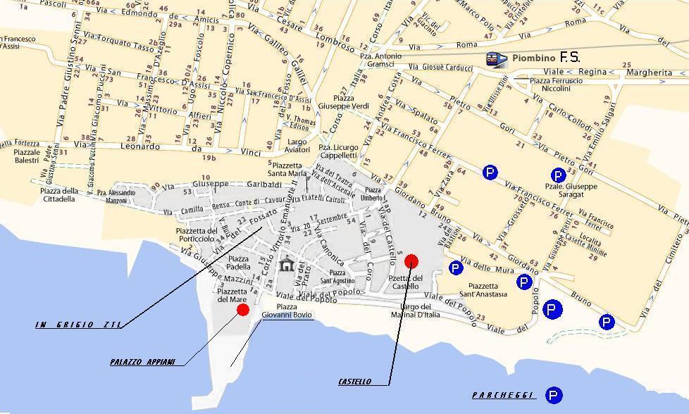 Mapa de Piombino