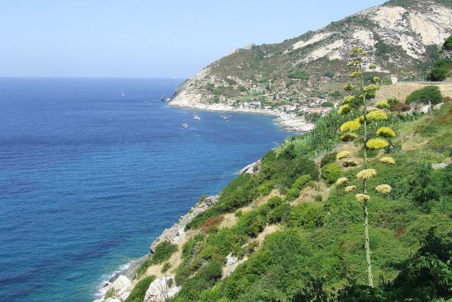 Magníficas vistas en la ruta de senderismo de Marciana a Chiessi.