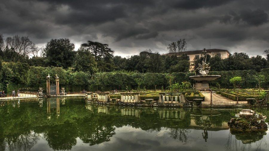 Jardines de Boboli, junto al Palazzo Pitti en Florencia.
