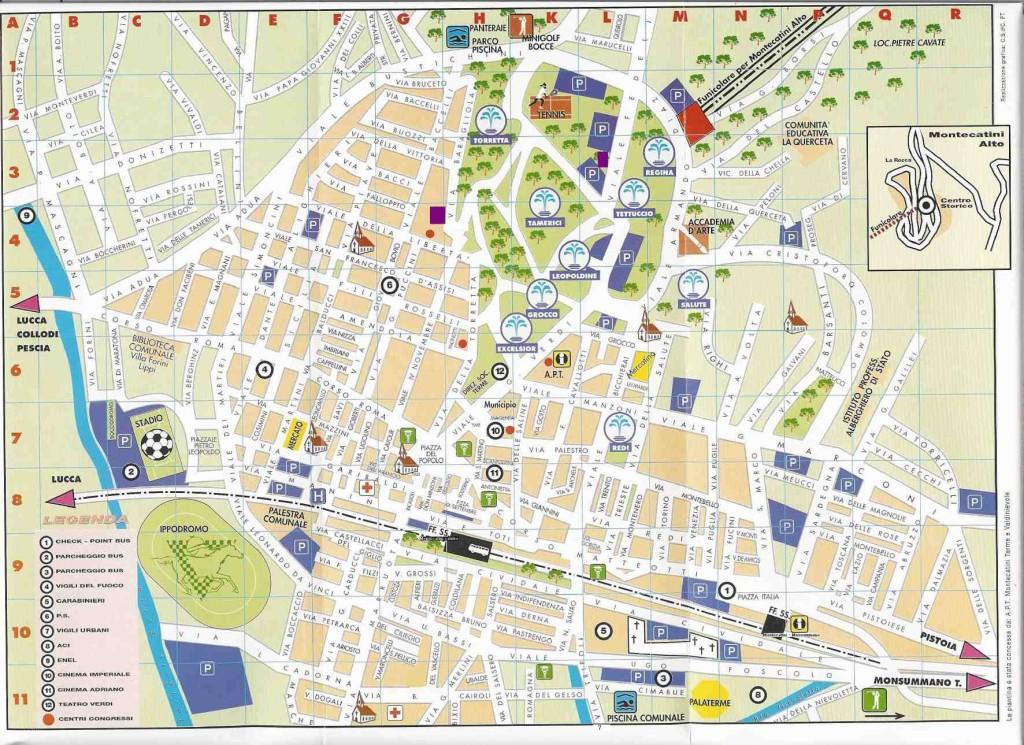 Mapa de Montecatini Termi