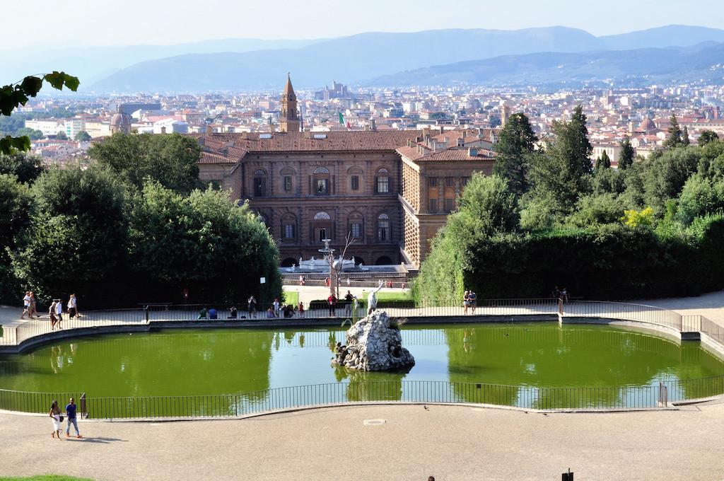 Vista del Palacio Pitti y de Florencia desde los Jardines Boboli. Foto de Toni Almodóvar Escuder.