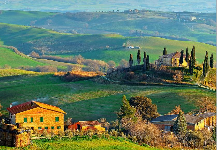 Atardecer en la Toscana