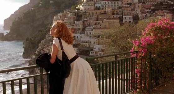Una de las secuencias de Frances en Positano