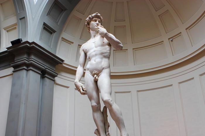 El David en el Museo de la Galería de la Academia